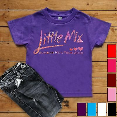 New Childrens Kids Little Mix Summer Hits Tour 2018 T-Shirt Glitter Fan Tee Top