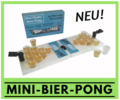 Mini-Bier-Pong - Travel Set - Partyspiel Trinkspiele Saufspiel Party-Trinkspiel
