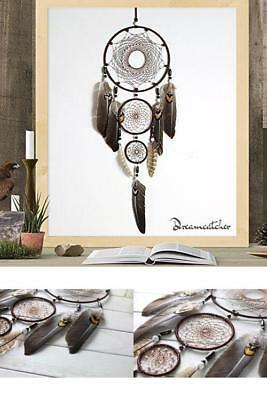 31'' Large Dream Catcher Natural Feathers Wall Home Office Hanging Ornament NEW
