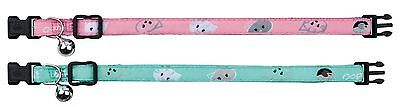 Mimi Cat Collar with Bell Fully Adjustable with Motif Strap