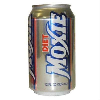 Diet Moxie Soda 12-12oz Cans - Maine Soft Drink - Fast Free Priority Shipping