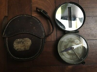 EXTREMELY RARE PEIGNÉ TOPOGRAPHIC EXPLORER COMPASS W/CASE LATE 19th CENTURY