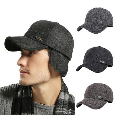 EG_ Men Winter Warm Golf Newsboy Peaked Cap Hat Baseball Driving Earflaps Newly
