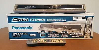Panasonic Dmr-Ex75 Dvd Recorder 160Gb Hdd Freeview Boxed W Remote Multi Format