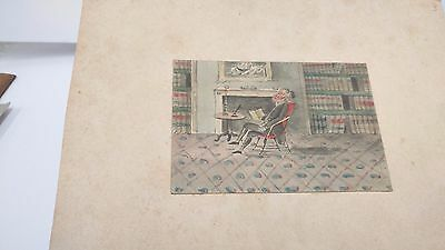Antique 18th century to early 19th century water color painting