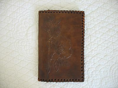 Leather Embossed Brown Leather Wallet/Billfold Vintage