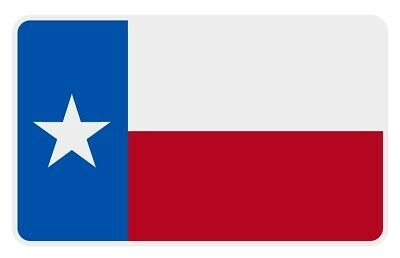 Texas Flag Very Small Reflective Helmet Decal