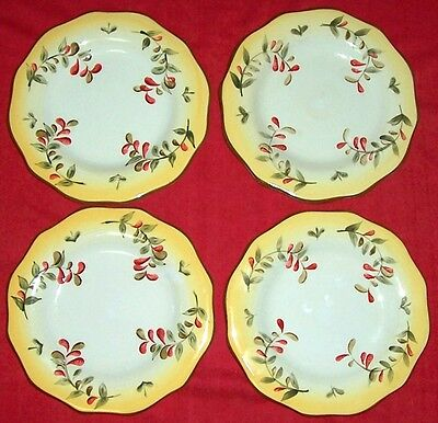 4 Better Homes And & Gardens Tuscan Retreat Salad Plates Set / 4 ~ Lot ~ Excelnt