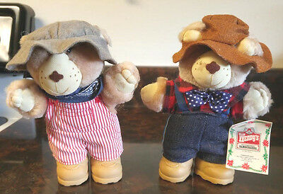 Vintage Wendy's Furskins Bears 1986- 2 Total- New with Tag!