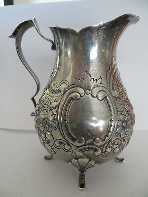 "Small Sterling Silver Repousse Pitcher Spaulding & Co. 165 grams 4.5"" tall"