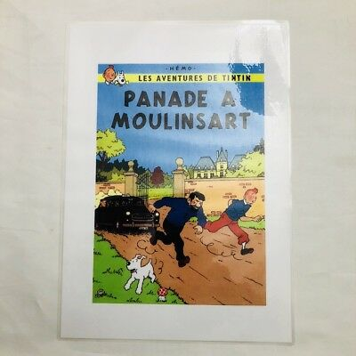 Tintin - Panade a Moulinsart HEMO - Reproduction Offset Pastiche Pirate 30x21