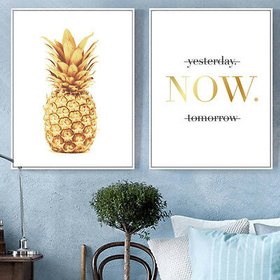 Eg_ Pineapple Motivational Quote Poster Print Minimalist Wall Canvas Painting Be