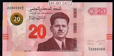 New 20 Dinars Banknote UNC issued 25 july 2017