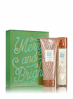 Bath And Body Works Vanilla Bean Noel Shimmer And Cheer Gift Set