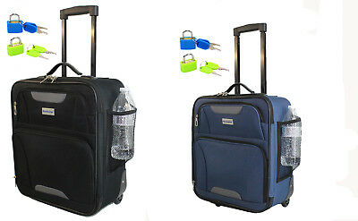 """BoardingBlue 16.5"""" Rolling Personal Item Under Seat Luggage Spirit- Frontier"""