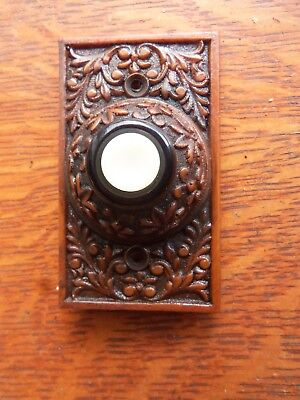 "New Victorian /""Berry /& Leaf/"" Lighted Doorbell Button"