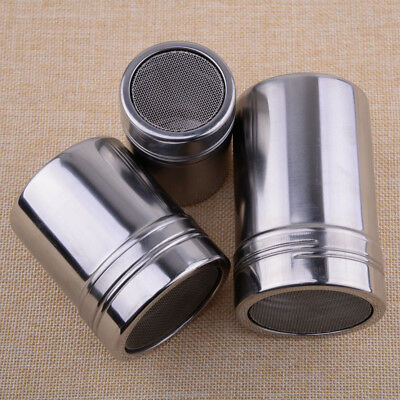Stainless Steel Flour Sifter Sugar Cocoa Chocolate Powder Shaker Coffee Duster