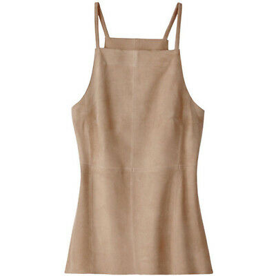 """$295 """"INDULGE"""" SOFT LAMB SUEDE HALTER TOP by CARLISLE ETCETERA NWT Size 8 or 10"""