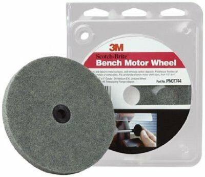 3m 07744 scotch-brite bench motor wheel debur & polish 6""
