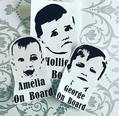 Personalised Your Photo Baby Child On Board Car Sign Sticker Vinyl Birthday Gift