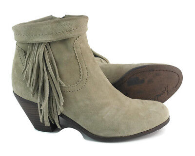 f40af9ecf Sam Edelman Louie Womens Tan Suede Leather Ankle Boots Block Heels US Size  8 M