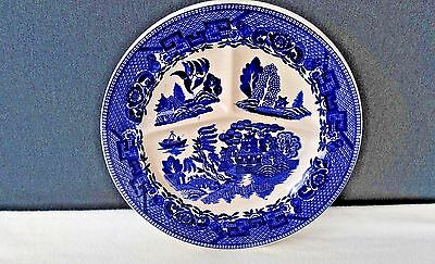 """VINTAGE """"BLUE WILLOW"""" 3 SECTION GRILL PLATE DIVIDED ~ RoVix ~ Made in Japan"""