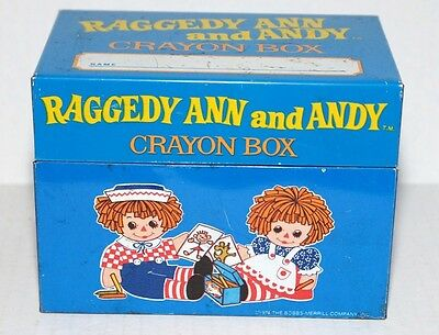 Raggedy Ann and Andy Crayon Box – Vintage – J. Chein & Company 1974