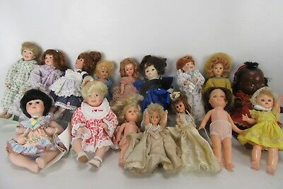 Lot of 16 Antique and Collectible Dolls.