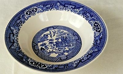 """Vintage """"Blue Willow"""" By Royal ~ Sebring Ohio ~  9"""" Round Vegetable Serving Bowl"""