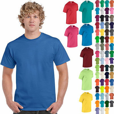 Gildan Plain Cotton T-Shirt Short Sleeve Solid Blank Design Tee Men Tshirt S-5XL