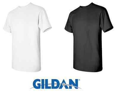 50 T-SHIRTS Blank 25 Black 25 White BULK LOT S-XL Wholesale Gildan 5000