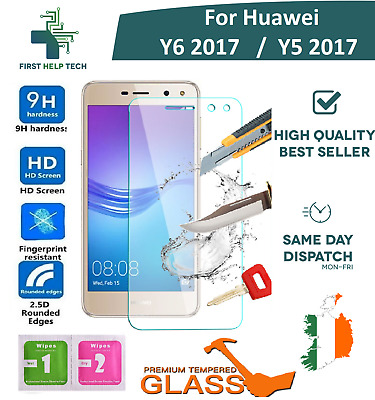 For Huawei Y6 2017 / Y5 2017 Premium Tempered Glass Screen Protector Guard Film
