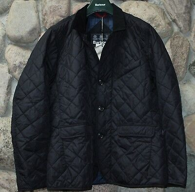 Barbour Jacket Coat Beauly Quilted Navy Blue MQU0728NY71 New Large  L
