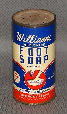 Vintage Williams Medicated Foot Soap Powder Container Hexachlorophene