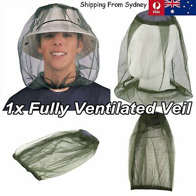 Fly Mosquito Head Net Hat Protector Gardening Camping Farm Fruit Picking Fishing