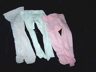 3-6 Month Size Girls Tights 3 pc