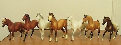 Lot of 8 Breyer Reeves Molding Co Horses Classic Size, GUC