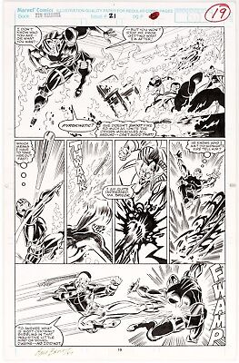 The New Warriors #21 p. 19 Mark Bagley Original  Marvel Comic Art