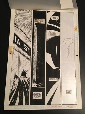 Detective Comics #672 P. 15 Graham Nolan Original Art Batman DC Comics