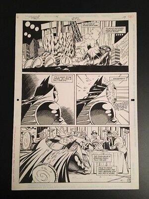 Detective Comics #672 P. 19 Graham Nolan Original Art Batman DC Comics
