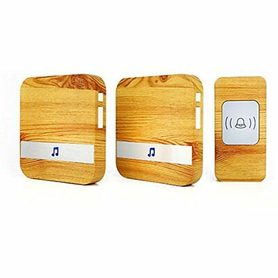 Four Horse Wood Grain Wireless Doorbell With 2 Receiver Plugin And 1 Remote At