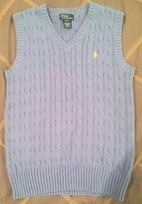 Ralph Lauren Polo Boy's Light Blue Vest Size Medium