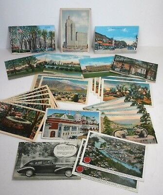 Lot of 29 Assorted Vintage Unused Postcards Linen Texture/Color/Some Duplicates