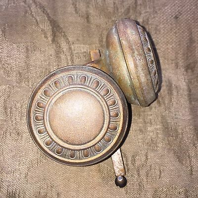 Vintage Victorian Brass Egg and Dart Art Noveau Metal Door Knobs
