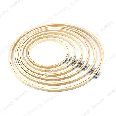 1pc Dia 8cm-33cm Wooden Cross Stitch Machine Embroidery Hoop Ring Bamboo Sewing