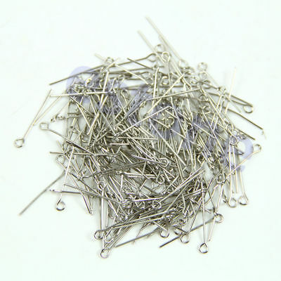200+ Plated Head Pins & 24mm Eye Needles Jewellery Findings Crafts Hair Fashion