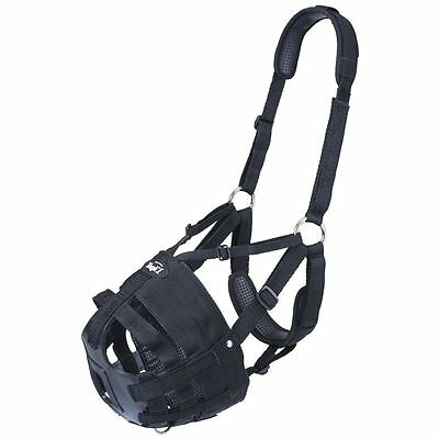 Tough 1 Deluxe Easy Breathe V Grazing Muzzle Padded Halter Horse Warmblood