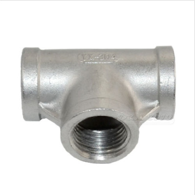 """1/4-2""""  Tee 3 way Female Stainless Steel 304 Threaded Pipe Fitting NPT"""