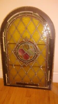 Old Stained Glass Window Pane From Catholic Church