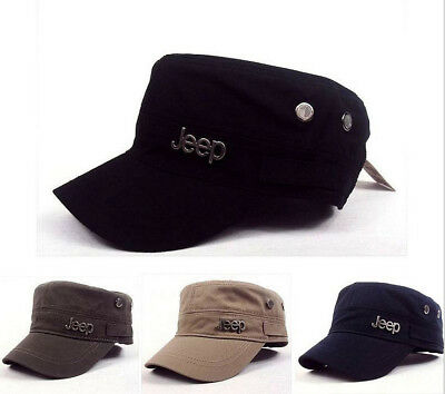 889e3e60 2019 Jeep Cadet Military style Army CAP Women Men Flat Classic Casual Hat  New